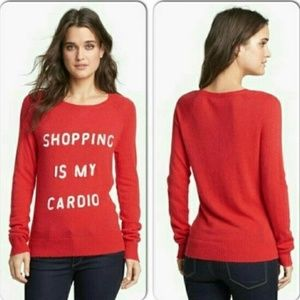 "WILDFOX ""Shopping is my Cardio"" Sweater"
